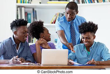 生徒, 教授, マレ, アメリカ人, アフリカ