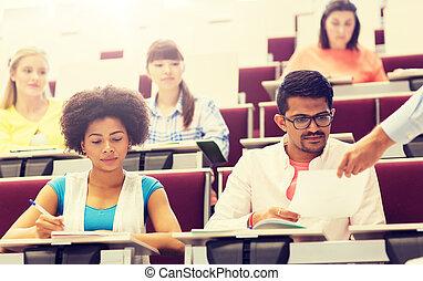 生徒, 講義, テスト, インターナショナル
