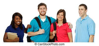 生徒, multicultural, 大学