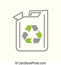 生态, 简单, 现代, 设计, trendy, 设计, 网, concept., 因特网, 燃料, 白色, 符号, 网站, 标志。, 背景, 图标, 图表, 运载工具, 按钮, app., 矢量, 或者