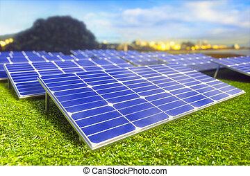 生態学的, 太陽エネルギー, 回復可能, パネル