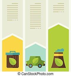 生態學, infographic, 由于, 環境, icons.