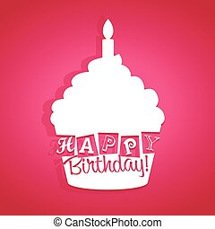 生日快樂, 卡片, cupcake