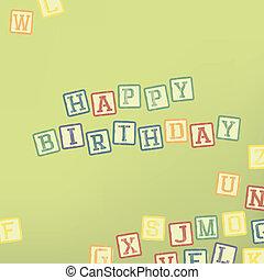 生日, 卡片, 愉快