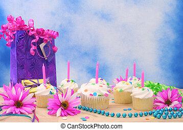 生日, cupcakes