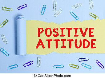生活, ある, テキスト, 意味, ポジティブ, 手書き, よい, attitude., 見る, things., 概念, 楽天的である
