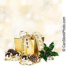 生活, まだ, 光沢がある, クリスマス, 背景