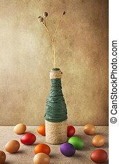 生活, カラフルである, 卵, つぼ, まだ, イースター
