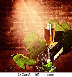 生活, コピースペース, デザイン, ワイン醸造工場, まだ, あなたの