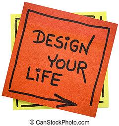 生活, デザイン, あなたの, インスピレーションを与える, メモ