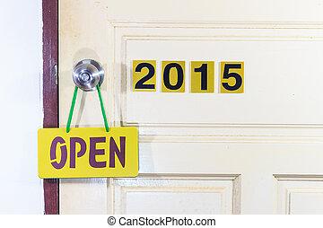 生活, ドア, 古い, 2014, 2015, 新しい, 開いた