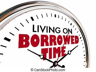 生活, 上, borrowed, 時間鐘, 說, 3d, 插圖