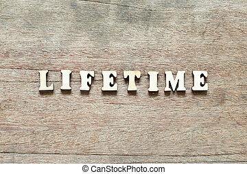 生活, 単語, 背景, 木, 手紙, 時間, ブロック