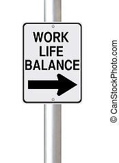 生活, 方式, 平衡, 工作, 這