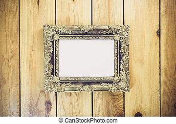 生活, 木製である, 型, フレーム, スタイル, 写真, まだ, テーブル
