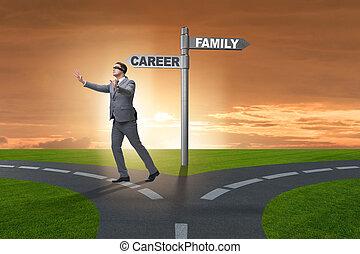 生活, 概念, 事務, 工作, 家, 平衡, 或者