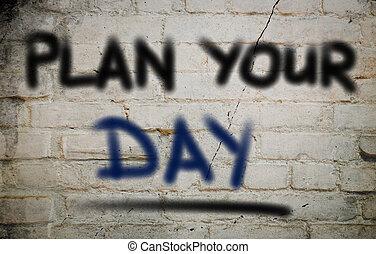生活, 概念, 計画, あなたの