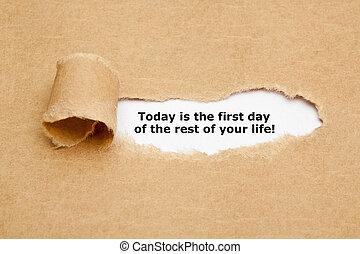 生活, 残り, 日, あなたの, 今日, 最初に