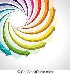 生活, 矢量, 色彩丰富, 周期