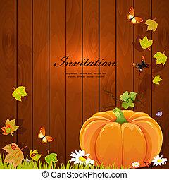 生活, 秋季, 设计, 仍然, 你, 南瓜