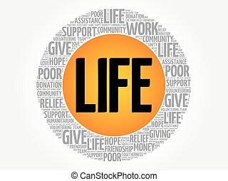 生活, 詞, 雲, 拼貼藝術