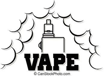 生活, 電, vape, -, 香煙, mod, 蒸氣, 汽化器