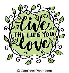 生活, quote., motivational, 你, love., 活