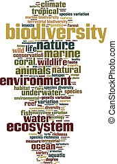 生物多樣性, 詞, 雲