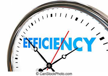 生産性, 時計, 仕事, 結果, イラスト, 効率, 単語, 3d