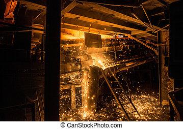 生産, 製粉所, プロセス, 鋼鉄