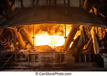 生産, 鋼鉄, プロセス, 弧, mill., 炉