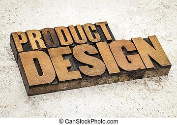 產品, 設計, 在, 木頭, 類型