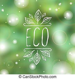 產品,  eco,  -, 標簽, 背景, 白色