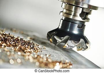 産業, うろつく, プロセス, metalworking, 切断, カッター