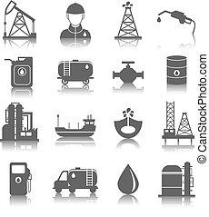 産業, オイル, アイコン