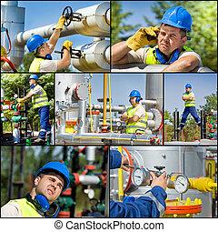 産業, オイル, ガス