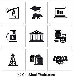 産業, オイル, ガス, ve, 交換