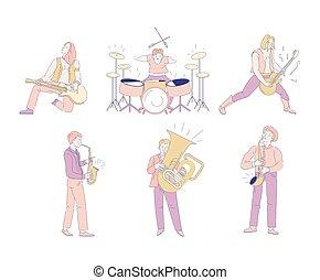 産業, オーケストラ, 隔離された, 音楽家, 音楽, 特徴, 岩