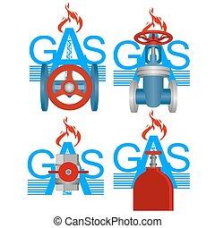 産業, ガス, バッジ