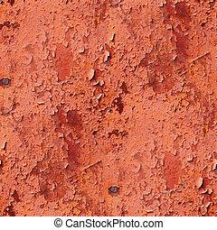 産業, グランジ, 背景, 壁, パターン, 金属, seamless, 手ざわり, 錆ついた, 赤, 鉄, 古い, さび, 表面