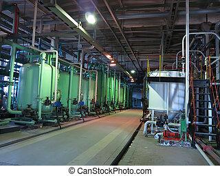 産業, タンク, 機械類, パイプ, チューブ, 中, 化学プラント