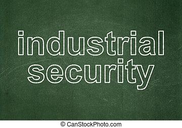産業, プライバシー, 黒板, 背景, セキュリティー, concept: