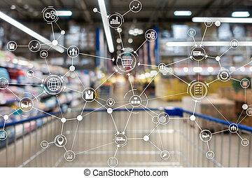 産業, ロジスティクス, concept., 単語, エクスポート, 輸入, バックグラウンド。