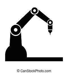 産業, ロボット, アイコン