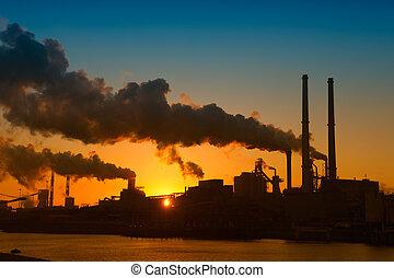 産業, 日没