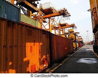 産業, 港, 容器