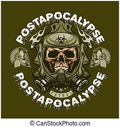 産業, 紋章, ∥で∥, 頭骨, grunge.vintage, デザイン, tシャツ