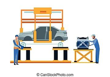 産業, 車の製造業, 漫画