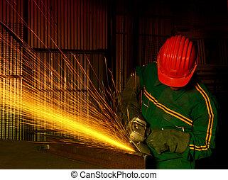 産業, 重い, 粉砕器, 手動 労働者