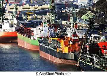 産業, 韓国, 造船所, 複合センター, ulsan, 南